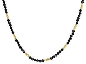 Black Spinel 18k Yellow Gold Over Sterling Silver Necklace 0.48ctw