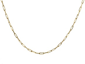 18k Yellow Gold Over Sterling Silver Paperclip Chain Necklace