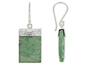 Green Kingman Turquoise Sterling Silver Earrings