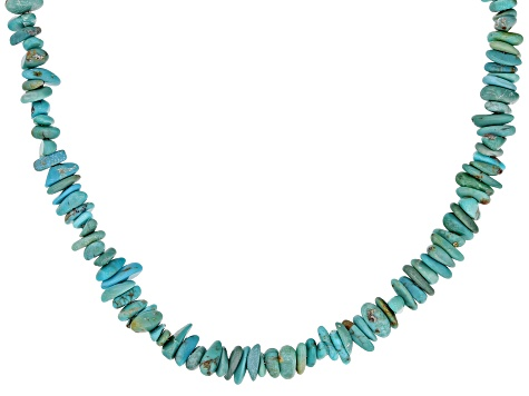 Turquoise Nugget Sterling Silver Necklace
