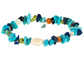 Turquoise Sterling Silver Stretch Bracelet