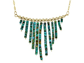 Turquoise 18k Gold Over Sterling Silver Necklace