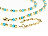Turquoise Sleeping Beauty Blue 18k Over Silver Necklace