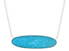Turquoise Kingman Blue Silver Necklace