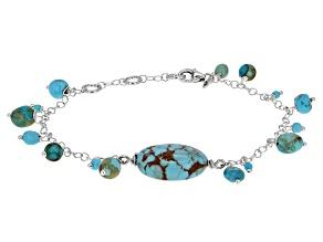 Turquoise Kingman Sterling Silver Bracelet
