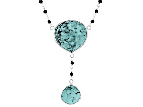 Turquoise Kingman Silver Necklace 7.20ctw