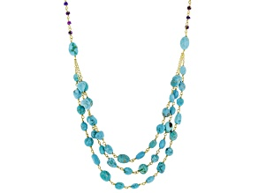Arizona Turquoise 18K Gold over Silver Necklace