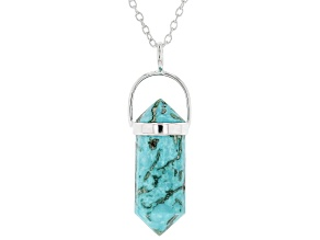 Turquoise Kingman Silver Pendant With Chain
