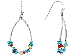 Turquoise Sleeping Beauty Silver Earrings 0.6ctw