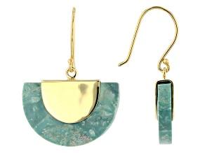 Turquoise Kingman 18k Gold Over Silver Earrings