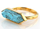 Turquoise Kingman 18k Gold Over Silver Ring