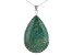 Turquoise Green Kingman Sterling Silver Pendant With Chain