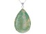 Turquoise Light Green Kingman Sterling Silver Pendant With Chain