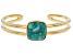 Turquoise Green Kingman 18k Gold Over Silver Bracelet