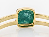 Turquoise Green Kingman 18k Gold Over Silver Bracelet