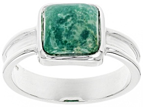 Turquoise Green Kingman Silver Ring