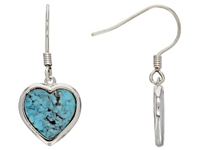 Turquoise Sterling Silver Heart Earrings