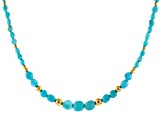 Turquoise Sleeping Beauty Blue 18k Gold Over Silver Necklace
