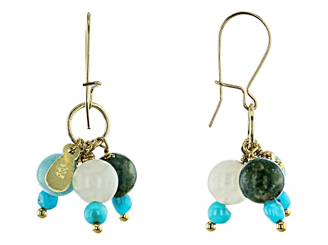 Turquoise Sleeping Beauty 18K Gold Over Silver Earrings