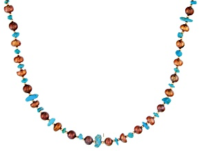 Turquoise Kingman Endless Strand Necklace