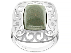 Green Kingman Turquoise Sterling Silver Ring