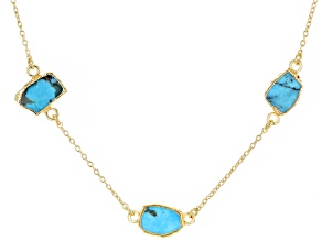 Sleeping Beauty Turquoise 18k Gold Over Silver Necklace
