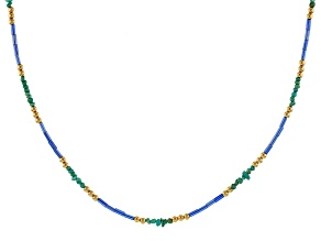 Kingman Turquoise 18k Gold Over Silver Necklace