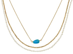 Sleeping Beauty Turquoise 18k Gold Over Silver