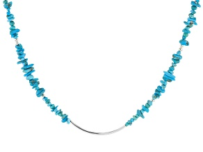 Turquoise Blue Kingman Silver Necklace