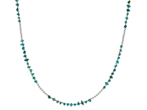 Turquoise Nugget Silver Necklace
