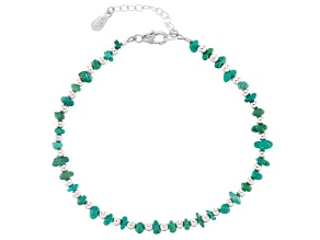 Turquoise Nugget Silver Bracelet