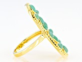 Kingman Turquoise 18K Gold Over Silver Ring