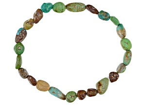 Green Kingman Turquoise Stretch Bracelet