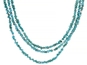 Kingman Turquoise Sterling Silver 3-Strand Necklace