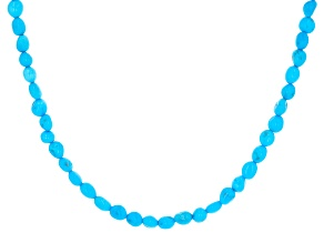Sleeping Beauty Turquoise Nugget Sterling Silver Necklace