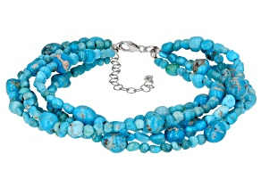 Sleeping Beauty Turquoise Nugget Sterling Silver Bracelet