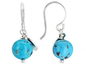 Sleeping Beauty Turquoise Silver Earrings