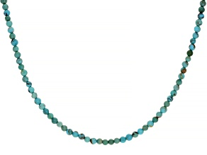 Kingman Turquoise Nugget Silver Childs Necklace