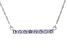 Blue Tanzanite Rhodium Over Sterling Silver Necklace .81ctw