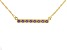 Lavender Amethyst 18k Yellow Gold Over Silver Bar Necklace 0.74ctw