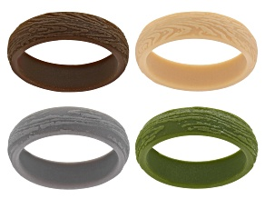 Multi-Color Silicone Band Rings