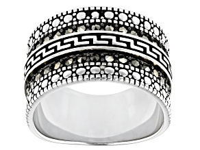 Gray Marcasite Sterling Silver Band Ring 0.29ctw
