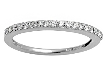 Picture of Diamond .25ctw Round Rhodium Over Sterling Silver Band.