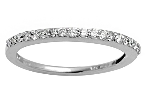 6ada2a5c8 Diamond .25ctw Round Rhodium Over Sterling Silver Band. - TVI005 | JTV.com