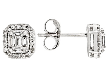 Picture of White Diamond 10k White Gold Earrings .25ctw