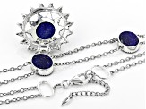 Lapis Lazuli Rhodium Over Sterling Silver Necklace