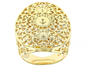 Global Destinations™ 18K Yellow Gold Over Sterling Silver Ring