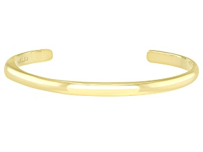 18K Yellow Gold Over Sterling Silver Cuff Bracelet