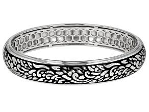 Sterling Silver Floral Design  Bracelet