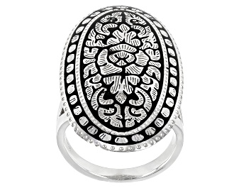Picture of Sterling Silver Floral Design Ring